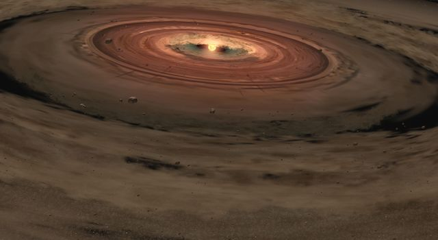 Birth of an Unusual Planetary System  (Artist Concept)