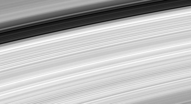 This image from NASA's Cassini spacecraft shows an amazing close-up of Saturn's rings, revealing their incredible variety.