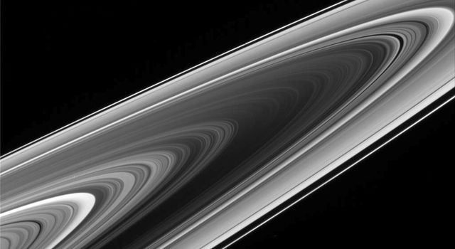 NASA's Cassini spacecraft's climb to progressively higher elevations reveals the 'negative' side of Saturn's rings.