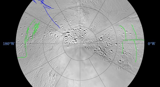 Space Images | Enceladus: North and South (Southern Polar