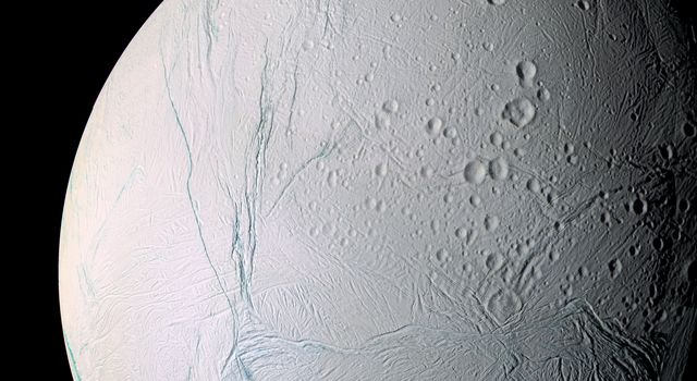 A masterpiece of deep time and wrenching gravity, the tortured surface of Saturn's moon Enceladus and its fascinating ongoing geologic activity tell the story of the ancient and present struggles of one tiny world.
