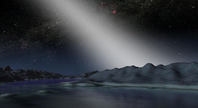 Alien Asteroid Belt Compared to our Own  (Artist Concept)