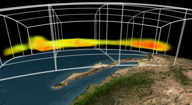 NASA's Atmospheric Infrared Sounder instrument is able to peel back cloud cover to reveal 3-D structure of a storm's water vapor content, information that can be used to improve weather forecast models.