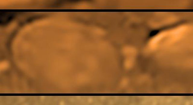 When printed on letter sized paper this poster shows the size of the 'rocks' on Titan's surface in their true size. This Huygens image was taken on Jan. 14, 2005. The Huygens probe was delivered to Saturn's moon Titan by NASA's Cassini spacecraft.