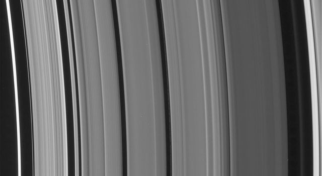 High-resolution NASA Cassini images show an astonishing level of structure in Saturn's Cassini Division, including two ringlets that were not seen in NASA Voyager spacecraft images 25 years ago.