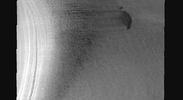 This image is from NASA's 2001 Mars Odyssey. THEMIS ART IMAGE #71 Is it a pig oinking or dolphins jumping? These south polar dunes on Mars have an animal appearance.