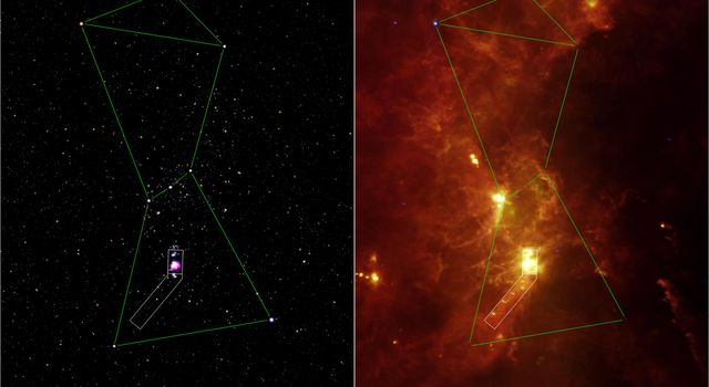 Infrared Spotlight on Orion's Sword