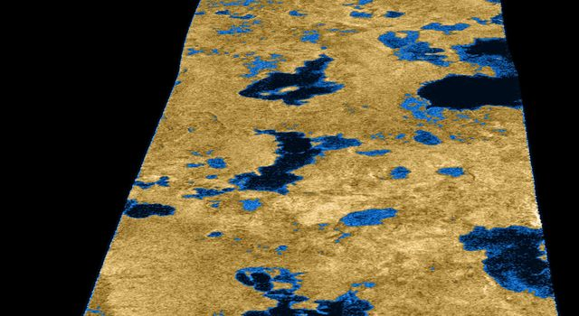 The existence of oceans or lakes of liquid methane on Saturn's moon Titan was predicted more than 20 years ago. But with a dense haze preventing a closer look it has not been possible to confirm their presence. Until NASA's Cassini flyby of July 22, 2006.