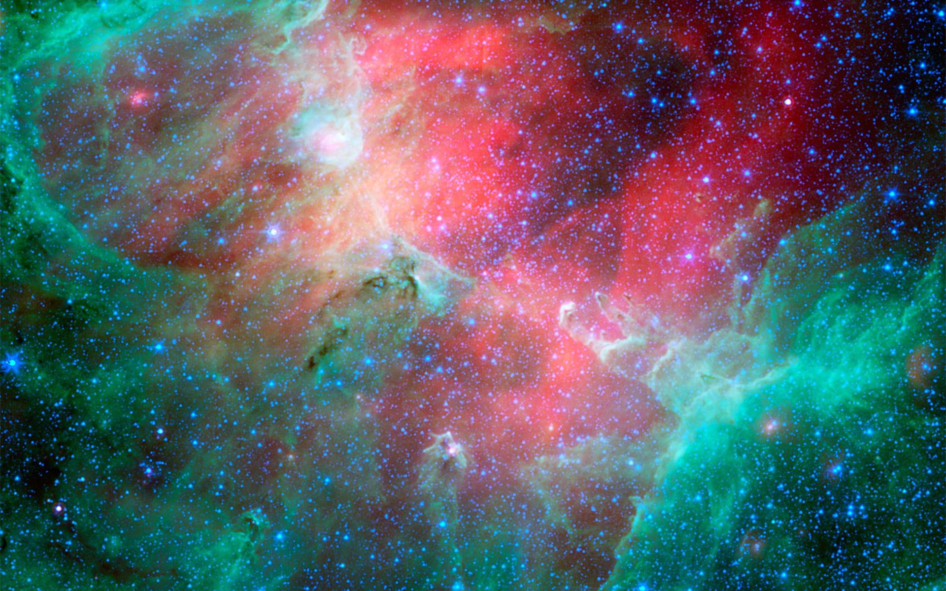 Space Images Cosmic Epic Unfolds In Infrared - Nasa release new hd photographs iconic pillars creation photo