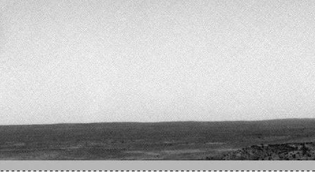 On sol 1120 (February 26, 2007), the navigation camera aboard NASA's Mars Exploration Rover Spirit captured one of the best dust devils it's seen in its three-plus year mission.