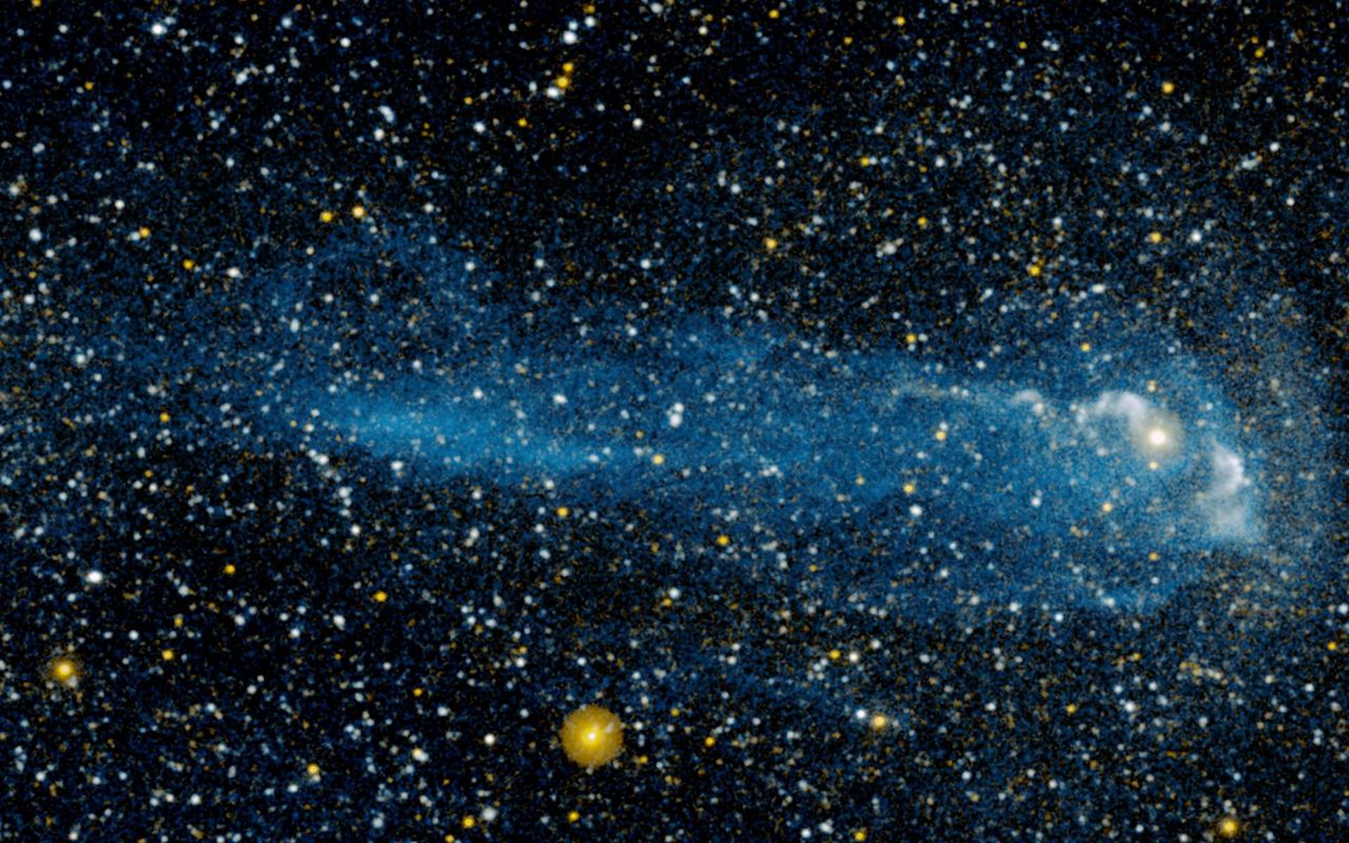 A Close Up View Of Star Racing Through Space Faster Than Speeding Bullet