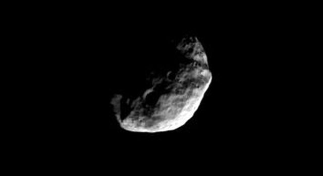 On a high-inclination orbit of Saturn, NASA's Cassini spacecraft gazed down at the north polar region of Janus on July 14, 2008.