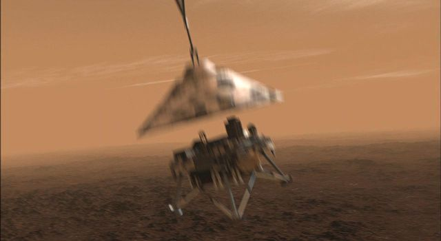 NASA's Phoenix Mars Lander will be in free fall after it separates from its back shell and parachute, but not for long.