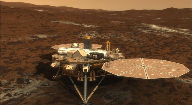 NASA's Phoenix Mars Lander will open its solar arrays 20 minutes after it touches down on the surface of Mars.