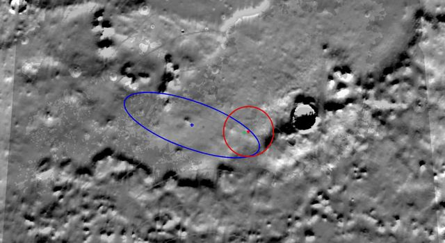 NASA's Mars Reconnaissance Orbiter shows Heimdall crater on Mars, the Phoenix Mars Lander's final destination.