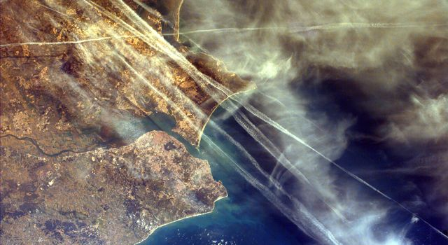 This image from NASA's EarthKAM shows Lisbon, the capital of Portugal. The superb natural harbor at Lisbon is a commercially important European port handling much of the import-export traffic for Portugal and Spain.