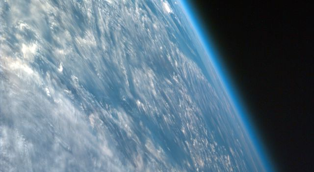 Oblique shot of Earth