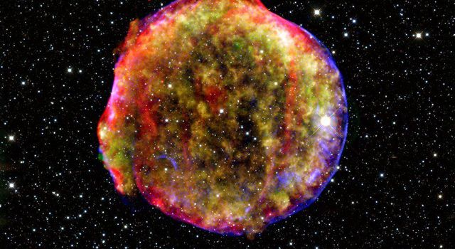 Vivid View of Tycho's Supernova Remnant