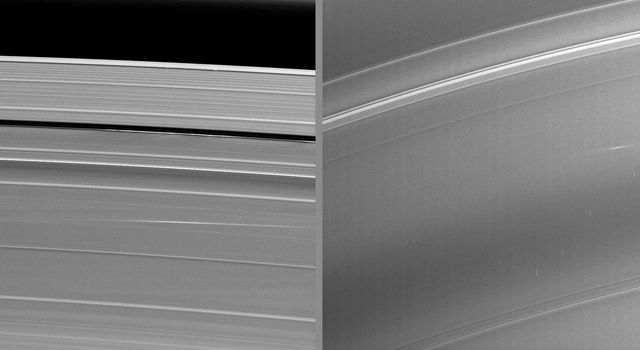 The bright streaks visible in these image from NASA's Cassini spacecraft taken during Saturn's August 2009 equinox are exciting evidence of a constant rain of interplanetary projectiles onto the planet's rings.