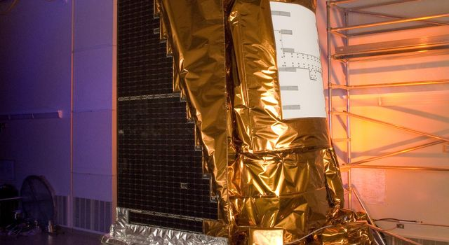 NASA's Kepler spacecraft at Ball Aerospace & Technologies Corp. in Boulder, Colo.