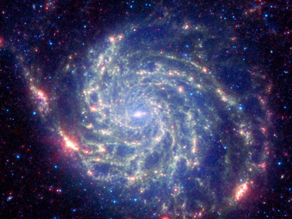 Space images spitzer space telescope 39 s view of galaxy - Spitzer space telescope wallpaper ...