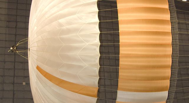 The parachute for NASA's Mars Science Laboratory mission opens to a diameter of nearly 16 meters (51 feet).