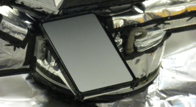Close-up of the Diviner solar calibration target. Diviner is one of seven instruments aboard NASA's LRO Mission.