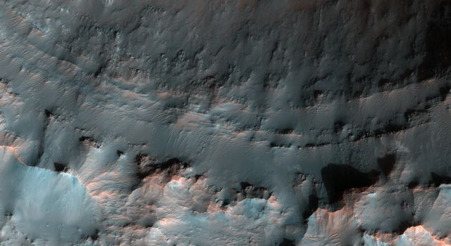 Crater with Exposed Layers