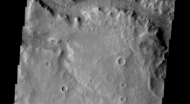 This image, taken by NASA's 2001 Mars Odyssey spacecraft, shows a small section of Naktong Vallis.