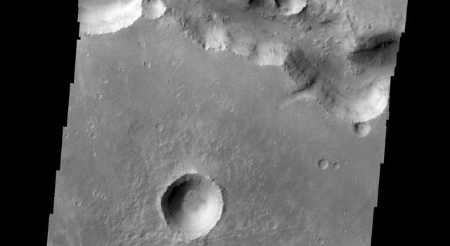 This image, taken by NASA's 2001 Mars Odyssey spacecraft, shows a small section of Nirgal Vallis.