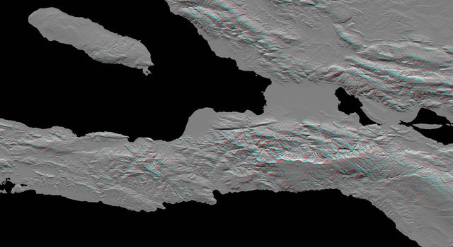 Southern Haiti Anaglyph