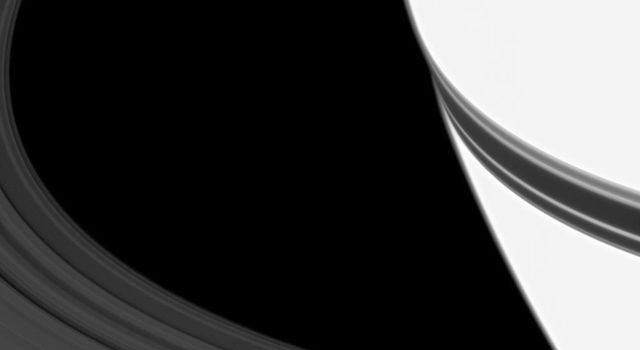 The shadow of Saturn's rings looks like a belt fastened around the planet's equator in this image. Overexposure to bring out the ring's details makes Saturn appear especially bright.