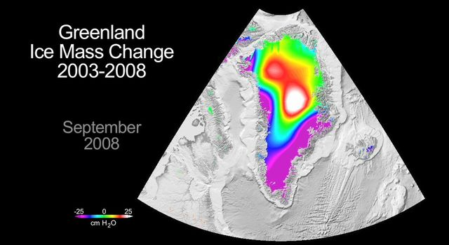 NASA's GRACE mission has become a key source of knowledge about global ice mass changes. Studies of Greenland using GRACE and other data indicate that between 2000 and 2008 the Greenland ice sheet lost as much as 1,500 gigatons of mass.