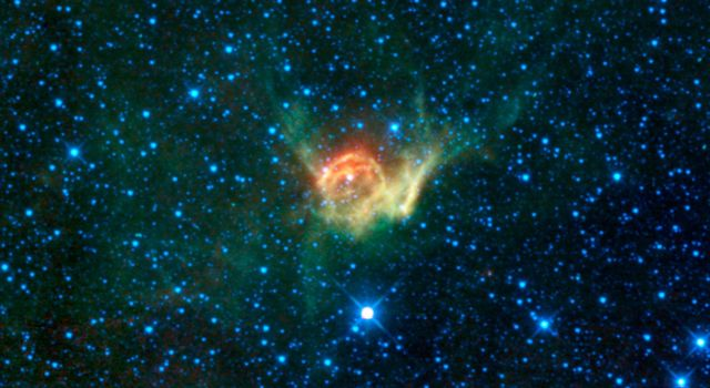 This heroic image from from NASA's Wide-field Infrared Survey Explorer is of a special cloud of dust and gas in the constellation Canis Major catalogued as NGC 2359, or more commonly known as Thor's Helmet.