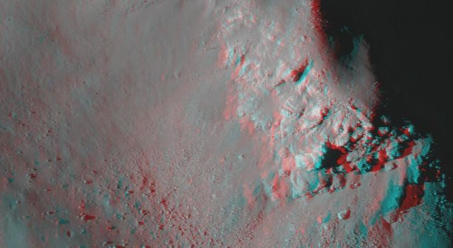 Central Peak of Copernicus Crater (Anaglyph)