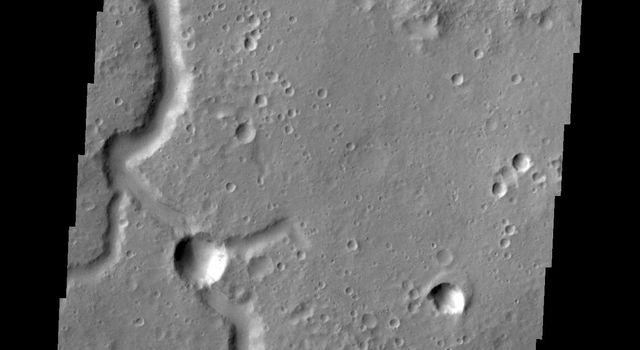 This image from NASA's 2001 Mars Odyssey is of an unnamed channel located in Xanthe Terra.