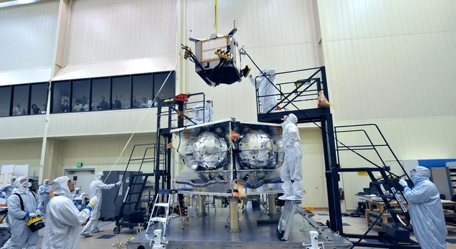 Technicians installed a special radiation vault onto the propulsion module of NASA's Juno spacecraft. Each titanium wall measures nearly a square meter (nearly 10 square feet) in area and about 1 centimeter (a third of an inch) in thickness.