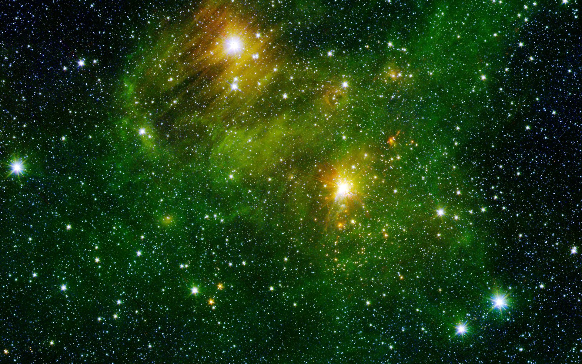 Space images bright lights green city - Space wallpaper green ...