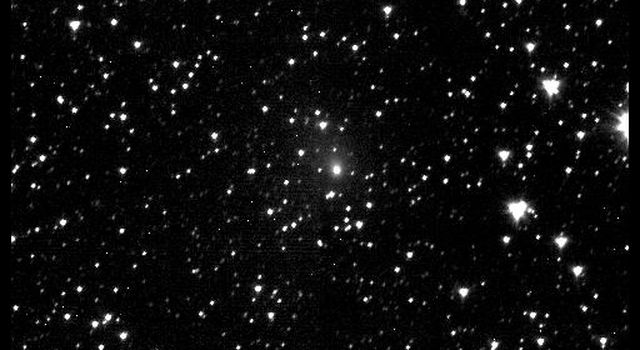 This first image of comet 103P/Hartley 2 was taken from NASA's Deep Impact spacecraft 60 days prior to the spacecraft's flyby of the comet.
