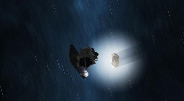 Comet Hartley 2 Gets a Visitor (Artist Concept)