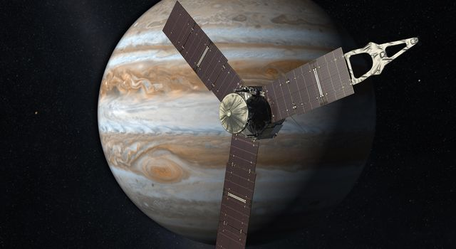 Juno Mission to Jupiter (2010 Artist's Concept)