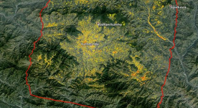 NASA-Generated Damage Map to Assist with 2015 Gorkha, Nepal Earthquake Disaster Response