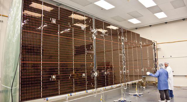 Juno Solar Panel Deployment Test