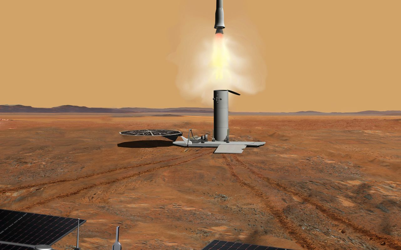 Space Images | Martian Samples Leaving Mars (Artist's Concept)