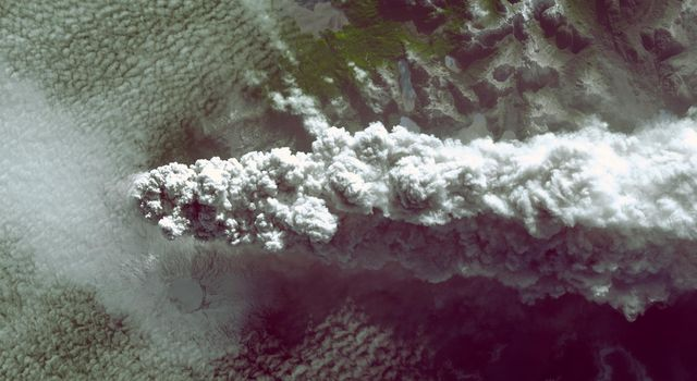 Southern Chile's Puyehue volcano came to life on June 4, 2011, after decades of dormancy. Winds spread the ash column eastward over neighboring Argentina, leading to the evacuation of thousands of residents. This image is from NASA's Terra spacecraft.
