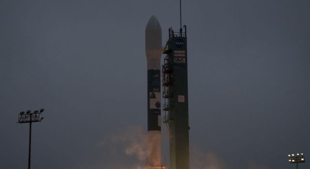 A Delta II rocket launches with the Aquarius/SAC-D spacecraft payload from Space Launch Complex 2 at Vandenberg Air Force Base, Calif. on Friday, June 10, 2011.