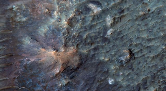 This crater on Mars, observed by NASA's Mars Reconnaissance Orbiter, was named after Dr. Gerald A. Soffen (February 7, 1926 - November 22, 2000), and this image covers a small portion of the crater floor.