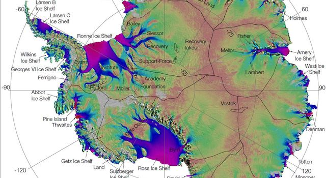 NASA Research Leads to First Complete Map of Antarctic Ice Flows