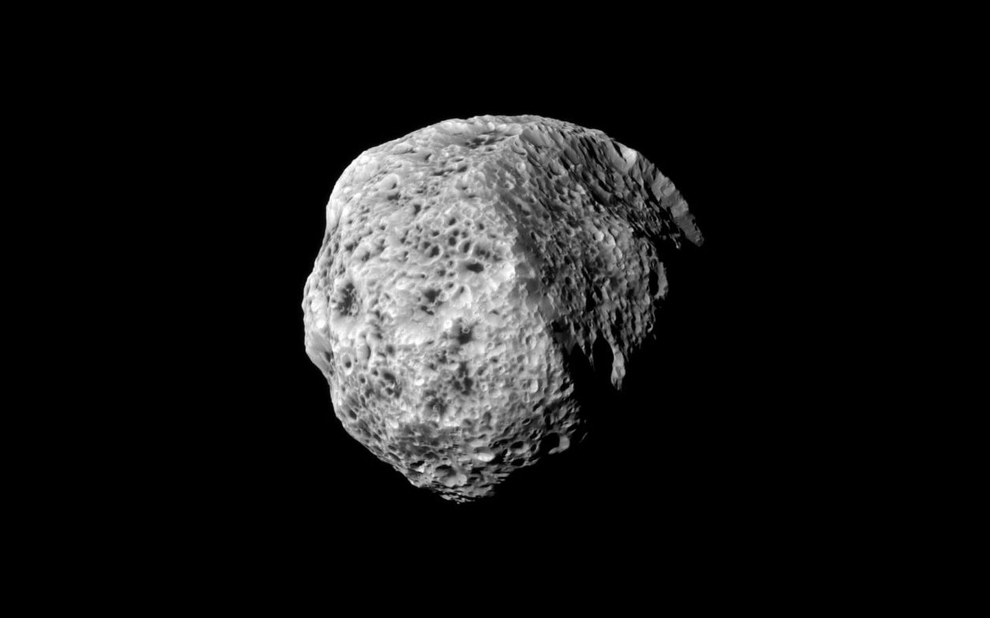 Space Images | Spongy Hyperion