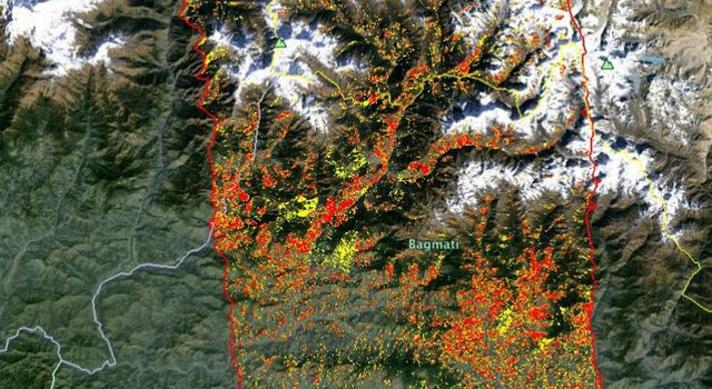 New ALOS-2 Damage Map Assists 2015 Gorkha, Nepal Disaster Response